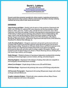 How To Do A Simple Resume Crafting A Representative Audio Engineer Resume