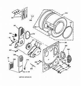 Dryer Drum  U0026 Back Panel Diagram  U0026 Parts List For Model