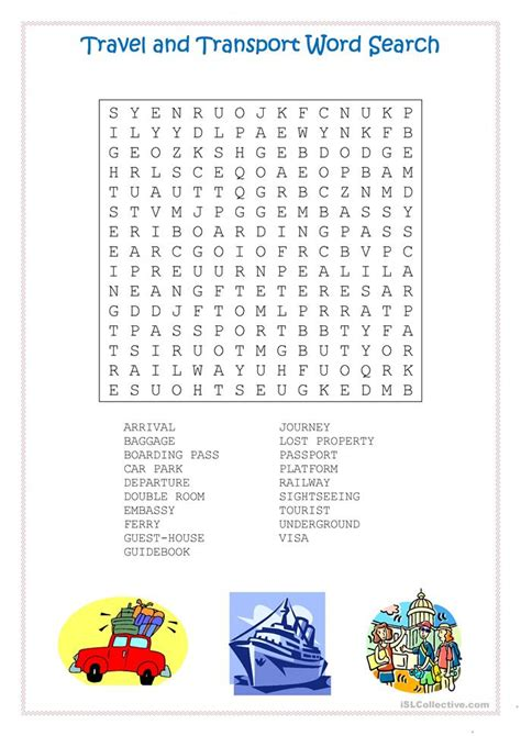 esl word search travel 509 free esl word search worksheets