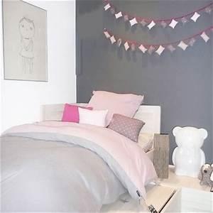 un chambre rose et gris la cerise sur la deco With chambre ado rose et gris