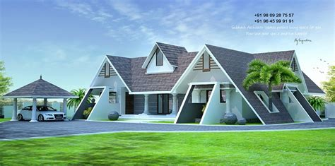 square feet single floor roofed modern home design