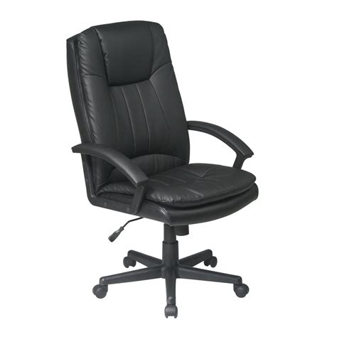 shop office one worksmart black leather executive
