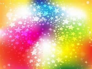 Bright Rainbow Stars Background Vector Art & Graphics ...