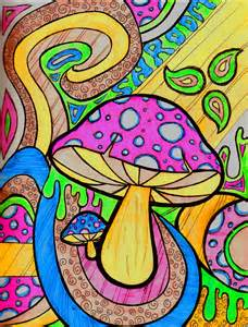 Trippy Shroom Drawings