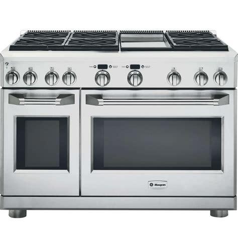 ge monogram zdpndpss stainless steel gas ranges  ovens goedeke