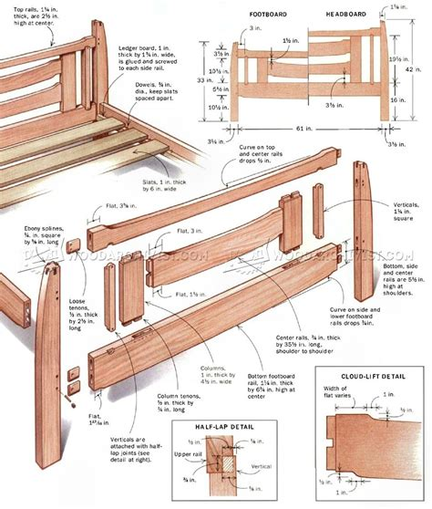 arts  crafts bed plans woodarchivist
