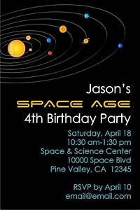 Solar System Outer Space Invitation Personalized Party Invites