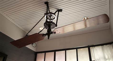 Belt Driven Ceiling Fan Diy by Pulley Ceiling Fans The Best Quot Retro Quot Choice Of 2017