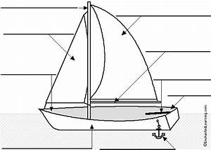 Label The Sailboat In German Printout
