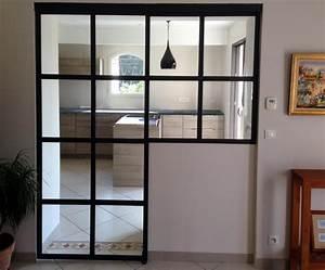 Porte, cloison, menuiserie intérieur installation Cloison métallique vitrée