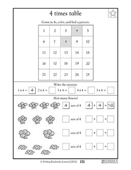 3rd grade math worksheets 4 times tables n 225 sobilka times tables worksheets 3rd grade math