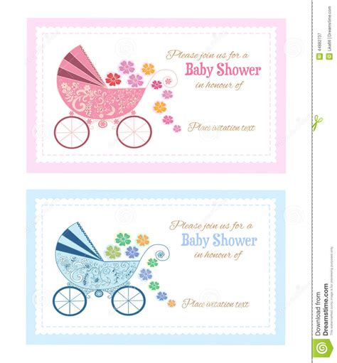 set of baby shower greeting cards stock vector image