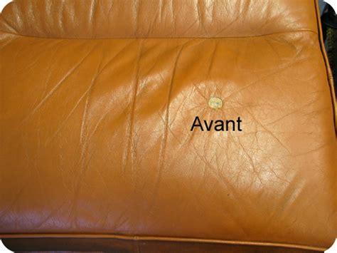 comment reparer canape cuir dechire