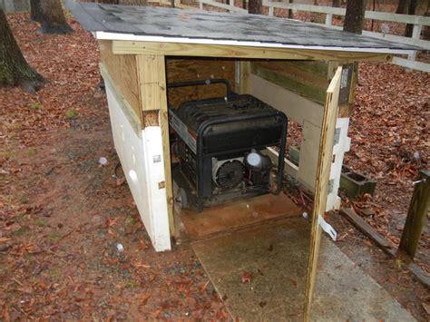 diy portable generator shed generator shelter plans how to build diy blueprints pdf