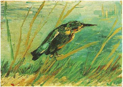 kingfisher   vincent van gogh  painting