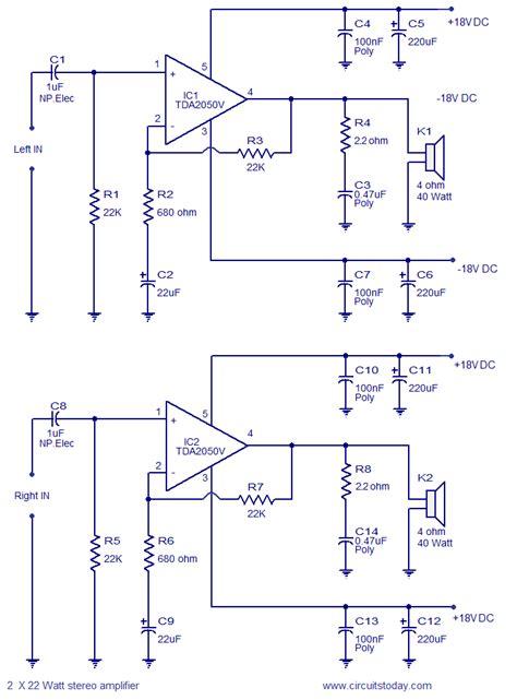 Watt Stereo Amplifier Circuit Assemble This