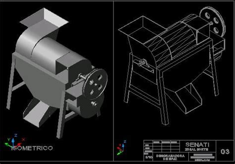 planos de desgranadora de maiz en maquinaria