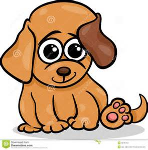 Cute Cartoon Baby Puppies