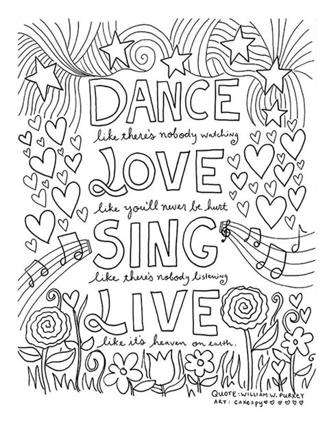inspiring quote coloring pages  adultsfree