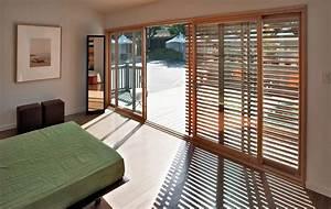 Baie Coulissante Bois : baie vitr e en bois en aluminium coulissante loewen ~ Premium-room.com Idées de Décoration