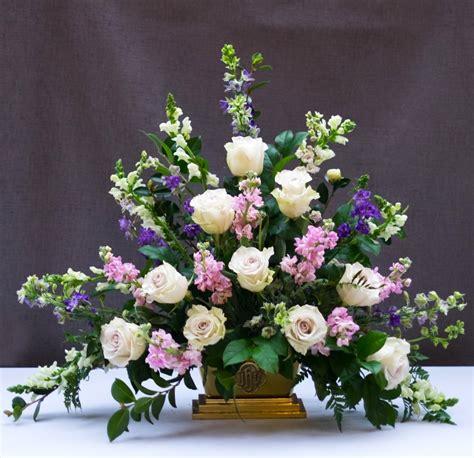Arranging Flowers by Classic Triangle Church Flower Arrangement Flower Magazine