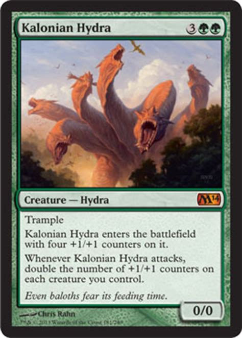 Mtg Worlds Decks by M14 Icd Kalonian Hydra The Wizards Community