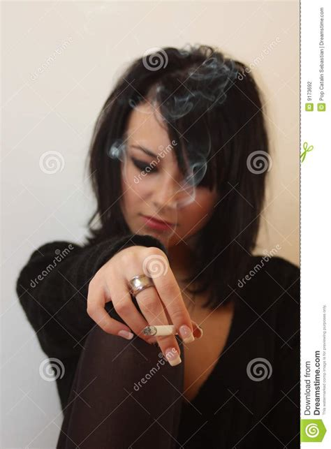 woman  cigar stock photography image