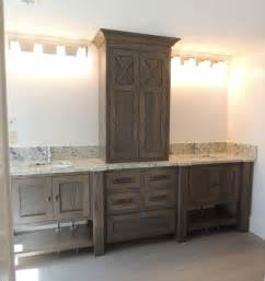 Bathroom Vanities Seattle by Thinking Of This White Oak With Grey Brown Stain For Lower
