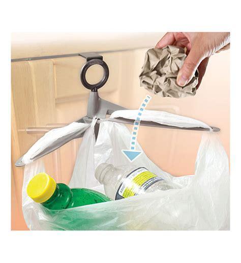 Cabinet Door Trash Bag Holder in Plastic Bag Recyclers