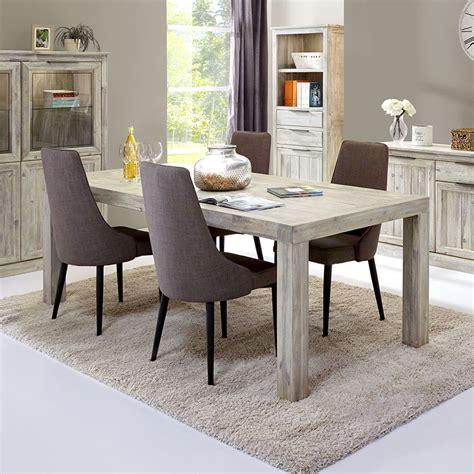 Meuble Table à Manger Contemporaine Couleur Acacia Gris
