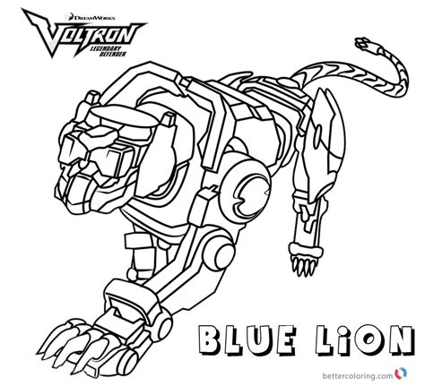 voltron coloring pages blue lion  printable coloring