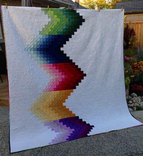 bedroom wall modern ombré quilt pattern
