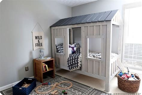 Rustic Cabin Kids Bed