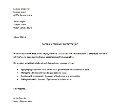 job letter sample employer job offer letter format