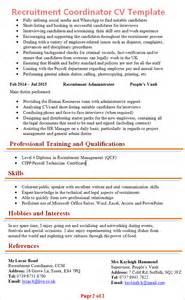 recruiting coordinator resume objective recruitment coordinator cv template 2