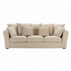 canape 4 places fixe beige balthazar maisons du monde With tapis chambre bébé avec canapé le plus confortable du monde