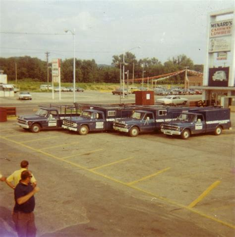 The parking lot of the La Crosse, WI store, c. 1970 ...
