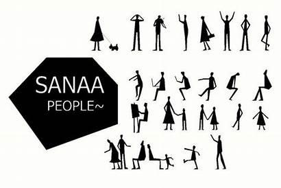 Photoshop Human Brush Figures Sanaa Figure Architecture