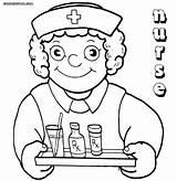 Nurse Coloring Pages Medication Funny Drawing Hat Print Colorings Getdrawings sketch template