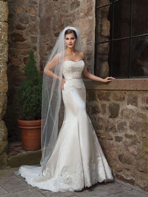 mermaid wedding satin dresses dress gown bridal sweetheart weddings sleeveless elegant lace brides bride gowns trumpet kathy ireland designer wow