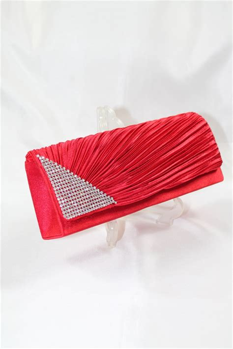 Red Clutch Evening Bag