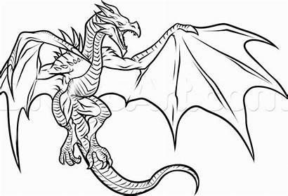 Dragon Coloring Realistic Step Draw Skyrim Drawing
