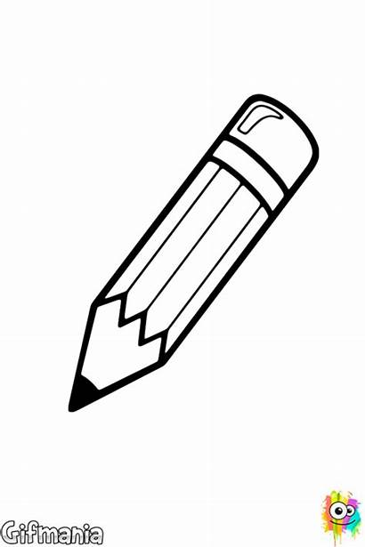 Pencil Coloring Pages Supplies Drawing Teacher Writing
