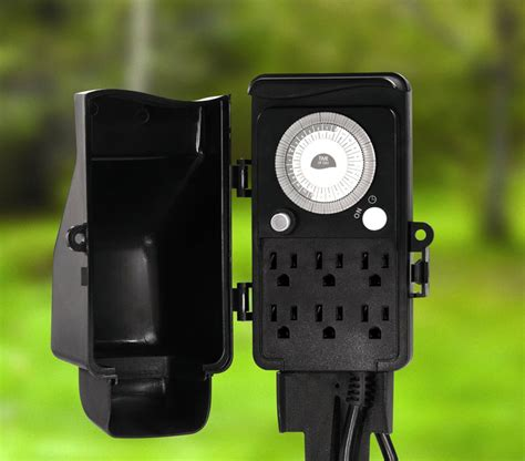 how to program outdoor light timer westek tm16dolb six outlet outdoor stake timer wall