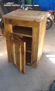 Pallet Side Table or Microwave Table