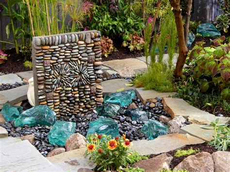 fountains and waterfalls outdoor spaces patio ideas