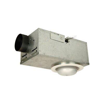 recessed bathroom fan  light  white