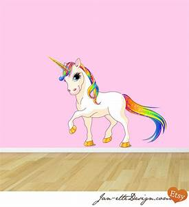 princess rainbow unicorn fabric wall decal by janettedesign With unicorn wall decal