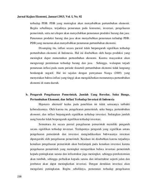 Analisispertumbuhanekonomiinvestasiinflasidiindonesia
