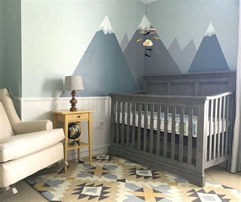 Nursery Decor! Modern Nursery With Mountains And Tribal